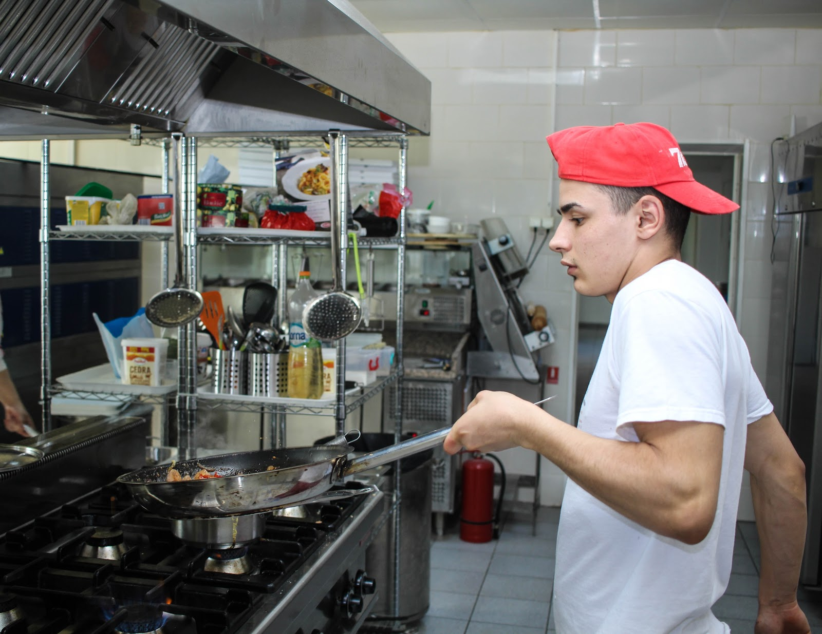 Line cook at a restaurant