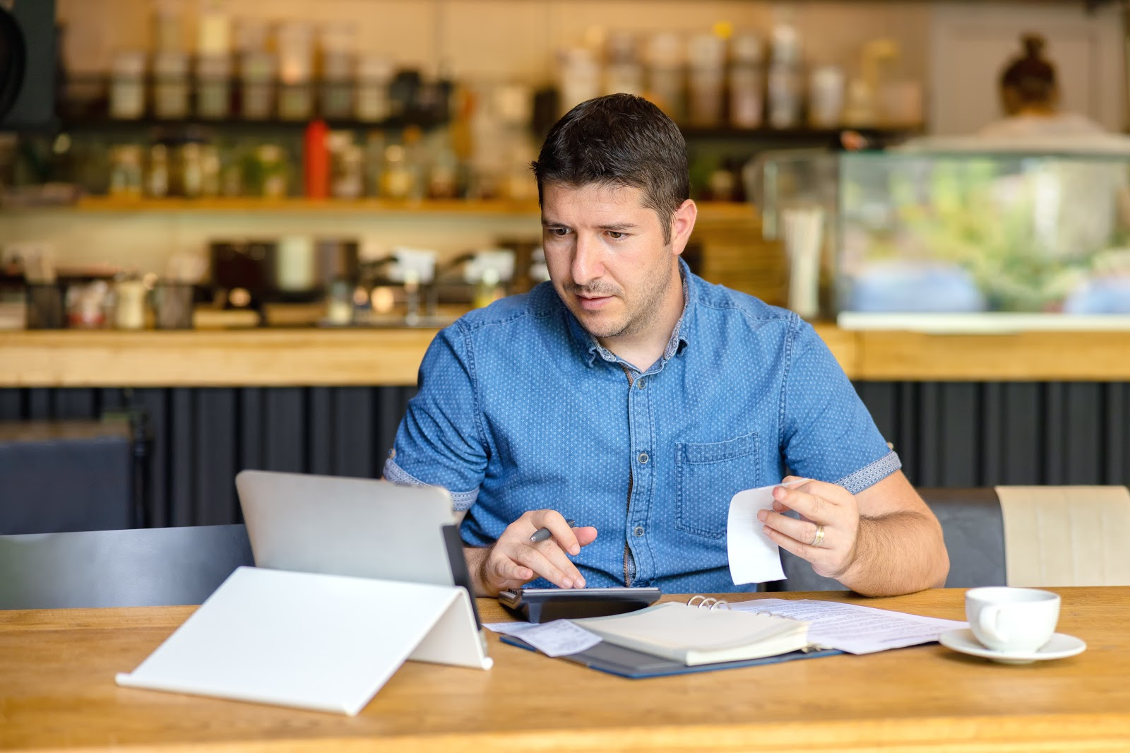 Restaurant worker performs accounting duties